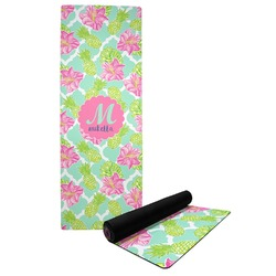 Preppy Hibiscus Yoga Mat (Personalized)