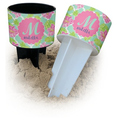 Preppy Hibiscus Beach Spiker Drink Holder (Personalized)