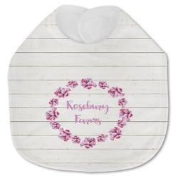 Farm House Jersey Knit Baby Bib w/ Name or Text