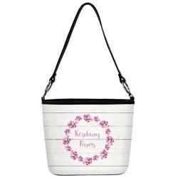 Farm House Bucket Bag w/ Genuine Leather Trim (Personalized)