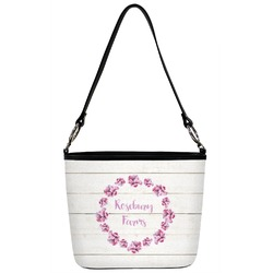 Farm House Bucket Bag w/ Genuine Leather Trim (Personalized)