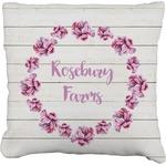 Farm House Faux-Linen Throw Pillow (Personalized)