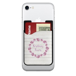Farm House Cell Phone Credit Card Holder (Personalized)
