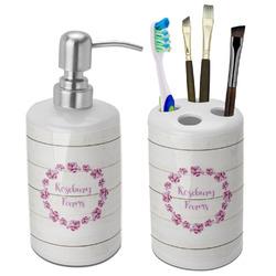 Farm House Bathroom Accessories Set (Ceramic) (Personalized)