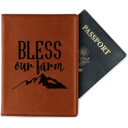 Farm House Leatherette Passport Holder (Personalized)