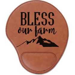 Farm House Leatherette Mouse Pad with Wrist Support (Personalized)