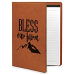 Farm House Leatherette Portfolio with Notepad (Personalized)