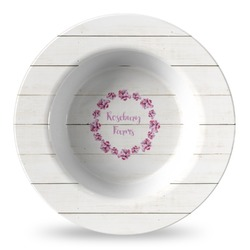 Farm House Plastic Bowl - Microwave Safe - Composite Polymer (Personalized)