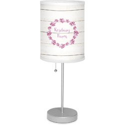 """Farm House 7"""" Drum Lamp with Shade Linen (Personalized)"""