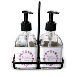 Farm House Soap & Lotion Dispenser Set (Glass) (Personalized)