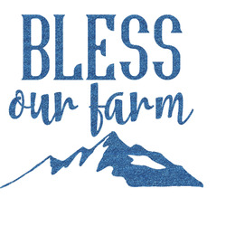 "Farm House Glitter Sticker Decal - Up to 9""X9"" (Personalized)"