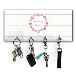 Farm House Key Hanger w/ 4 Hooks (Personalized)