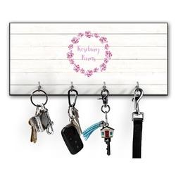 Farm House Key Hanger w/ 4 Hooks w/ Name or Text