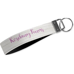 Farm House Webbing Keychain Fob - Large (Personalized)