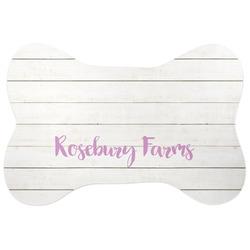 Farm House Bone Shaped Dog Food Mat (Personalized)