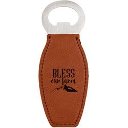Farm House Leatherette Bottle Opener (Personalized)