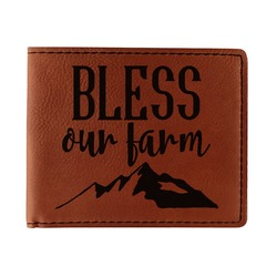 Farm House Leatherette Bifold Wallet (Personalized)