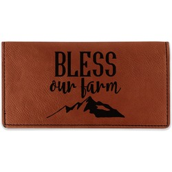 Farm House Leatherette Checkbook Holder (Personalized)