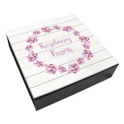 Farm House Leatherette Keepsake Box - 3 Sizes (Personalized)