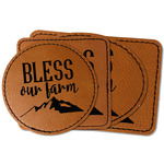 Farm House Faux Leather Iron On Patch (Personalized)