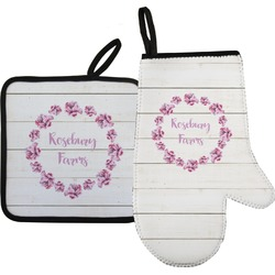Farm House Oven Mitt & Pot Holder (Personalized)