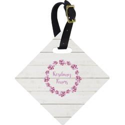 Farm House Diamond Luggage Tag (Personalized)