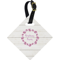 Farm House Diamond Luggage Tag (Personalized)