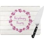 Farm House Rectangular Glass Cutting Board (Personalized)