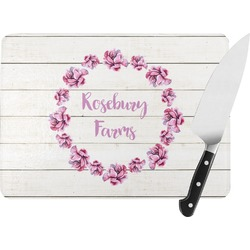 Farm House Rectangular Glass Cutting Board (Personalized)