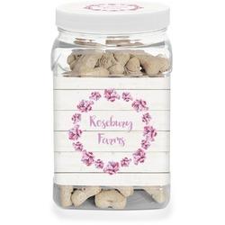 Farm House Dog Treat Jar (Personalized)