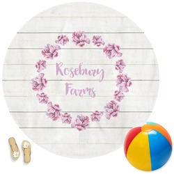Farm House Round Beach Towel (Personalized)