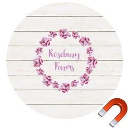 Farm House Round Car Magnet (Personalized)