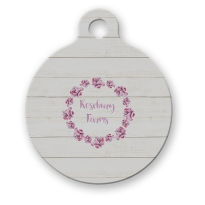 Farm House Round Pet Tag (Personalized)