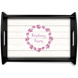 Farm House Black Wooden Tray (Personalized)