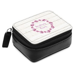 Farm House Small Leatherette Travel Pill Case (Personalized)
