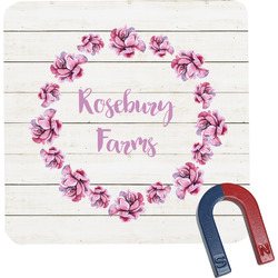Farm House Square Fridge Magnet (Personalized)