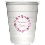 Farm House Waste Basket - Single Sided (White) (Personalized)