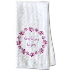 Farm House Waffle Weave Kitchen Towel - Partial Print (Personalized)