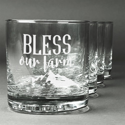 Farm House Whiskey Glasses (Set of 4) (Personalized)