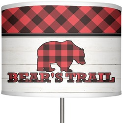 "Lumberjack Plaid 13"" Drum Lamp Shade Polyester (Personalized)"