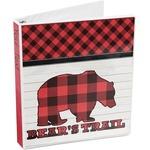 Lumberjack Plaid 3-Ring Binder (Personalized)