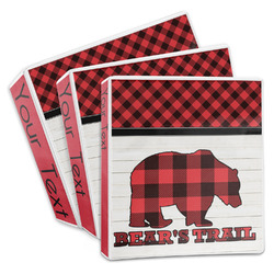 Lumberjack Plaid 3-Ring Binder (Personalized)
