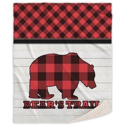 Lumberjack Plaid Sherpa Throw Blanket (Personalized)