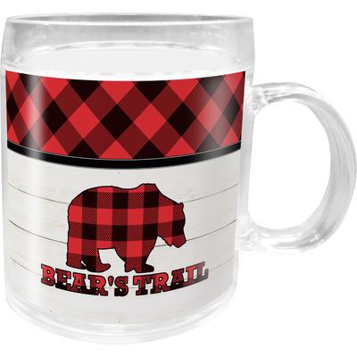 Lumberjack Plaid Acrylic Kids Mug (Personalized)
