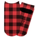 Lumberjack Plaid Adult Ankle Socks (Personalized)