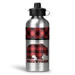Lumberjack Plaid Water Bottle - Aluminum - 20 oz (Personalized)
