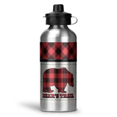 Lumberjack Plaid Water Bottle - Aluminum - 20 oz (Personalized)