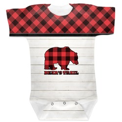 Lumberjack Plaid Baby Bodysuit (Personalized)