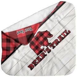 Lumberjack Plaid Baby Hooded Towel (Personalized)
