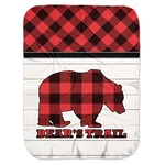 Lumberjack Plaid Baby Swaddling Blanket (Personalized)